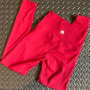 Other - Dark red high waisted gym leggings